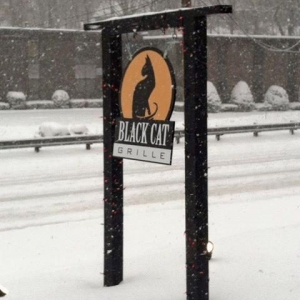 Black Cat Grille Sign