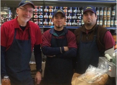 Jim Eckel and the crew at Gold's Deli in westport ct